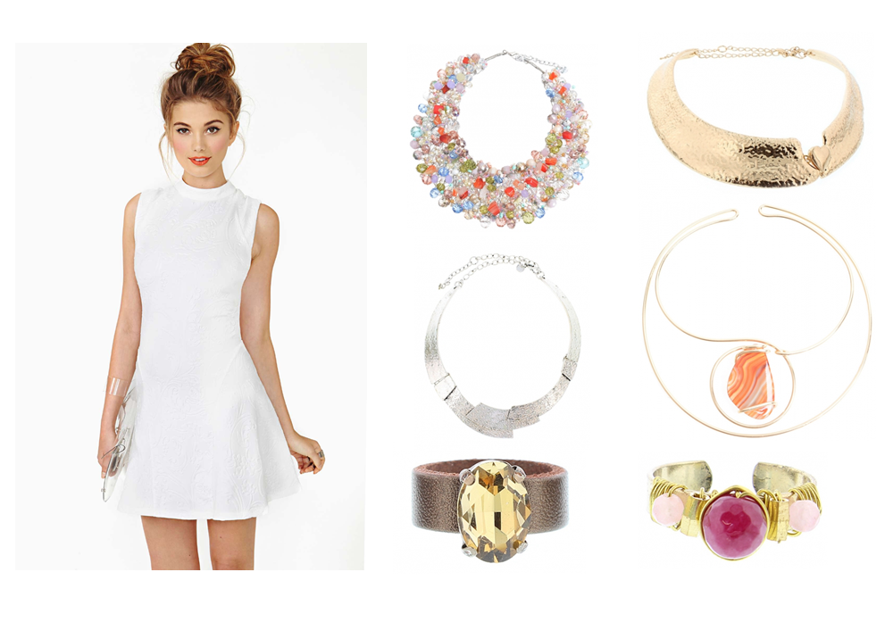little white dress y chokers